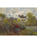 Claude Monet - The Artist's Garden in Argenteuil. Printing on canvas