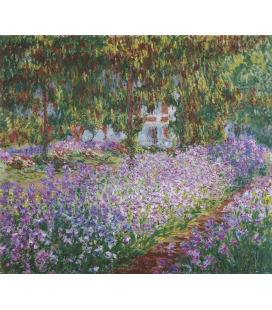 Printing on canvas: Claude Monet - Monet's Garden