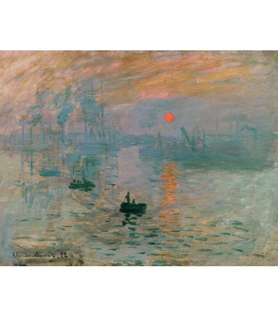 Printing on canvas: Claude Monet - Impression Sunrise