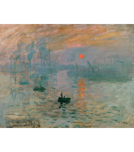 Claude Monet - Impression Sunrise. Printing on canvas