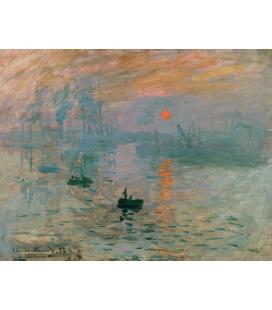 Claude Monet - Impressione dell'alba. Stampa su tela