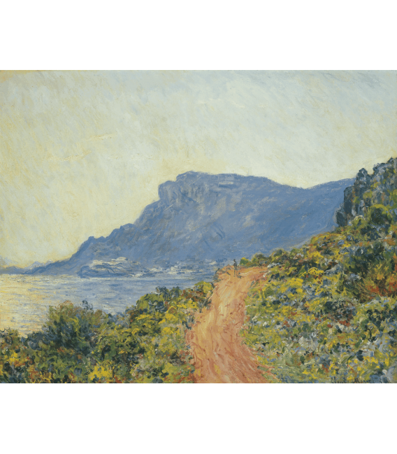 Printing on canvas: Claude Monet - La Corniche near Monaco
