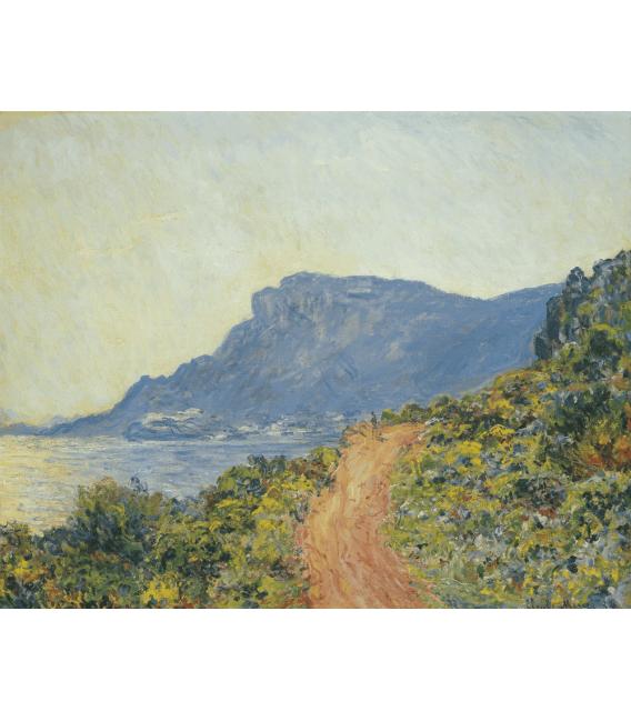 Stampa su tela: Claude Monet - La Corniche vicino Monaco