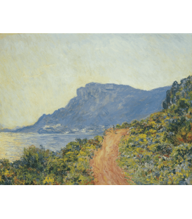 Claude Monet - La Corniche near Monaco. Printing on canvas