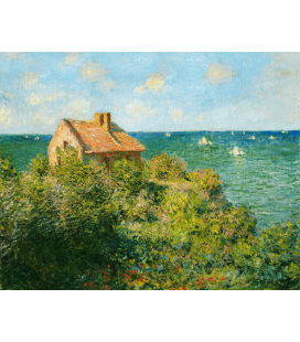 Printing on canvas: Claude Monet - The house of the fisherman on the rocks