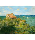 Claude Monet - The house of the fisherman on the rocks. Printing on canvas