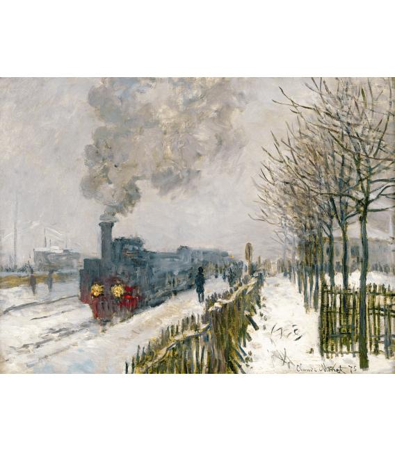 Stampa su tela: Claude Monet - La Locomotiva