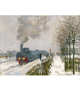 Claude Monet - The Locomotive. Printing on canvas