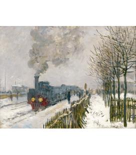 Claude Monet - La Locomotiva. Stampa su tela