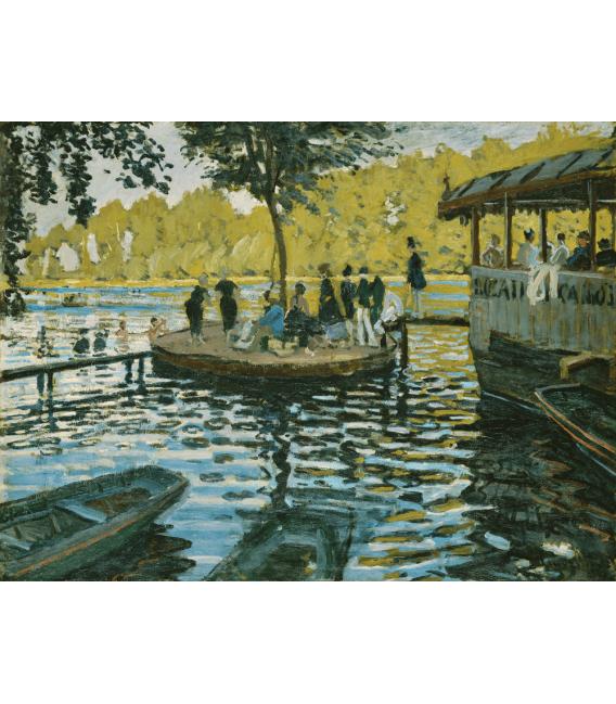 Stampa su tela: Claude Monet - La Grenouillere