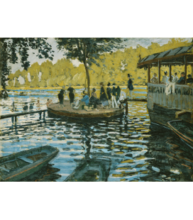 Printing on canvas: Claude Monet - The Grenouillere