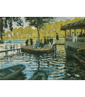 Claude Monet - La Grenouillere. Stampa su tela