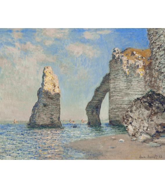 Stampa su tela: Claude Monet - La Scogliera a Etrètat