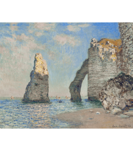 Claude Monet - The Cliff at Etretat. Printing on canvas