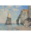 Claude Monet - La Scogliera a Etrètat. Stampa su tela