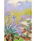 Claude Monet - The Agapanthes. Printing on canvas