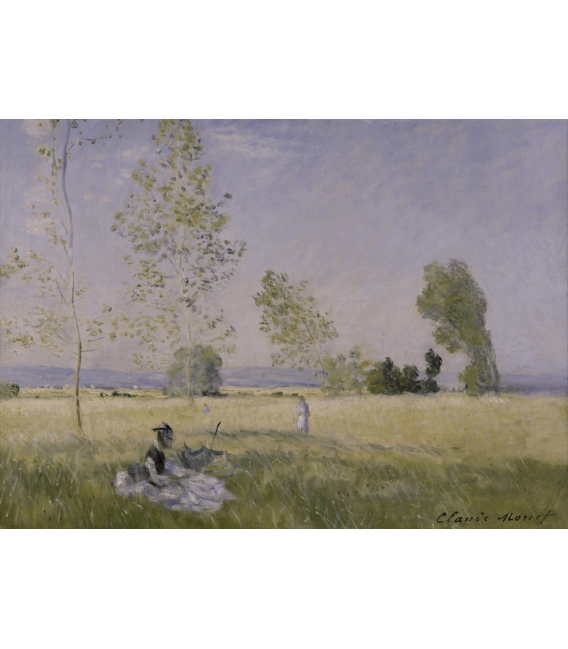 Stampa su tela: Claude Monet - L'estate
