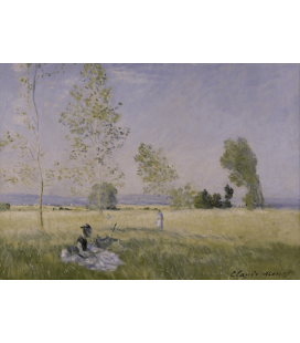 Claude Monet - L'estate. Stampa su tela