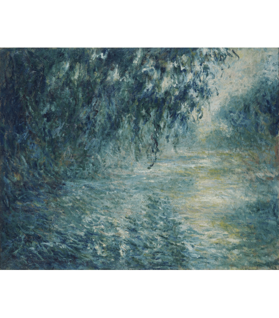 Printing on canvas: Claude Monet - Morning on the Seine
