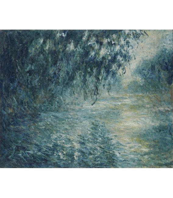Stampa su tela: Claude Monet - Mattino sulla Senna