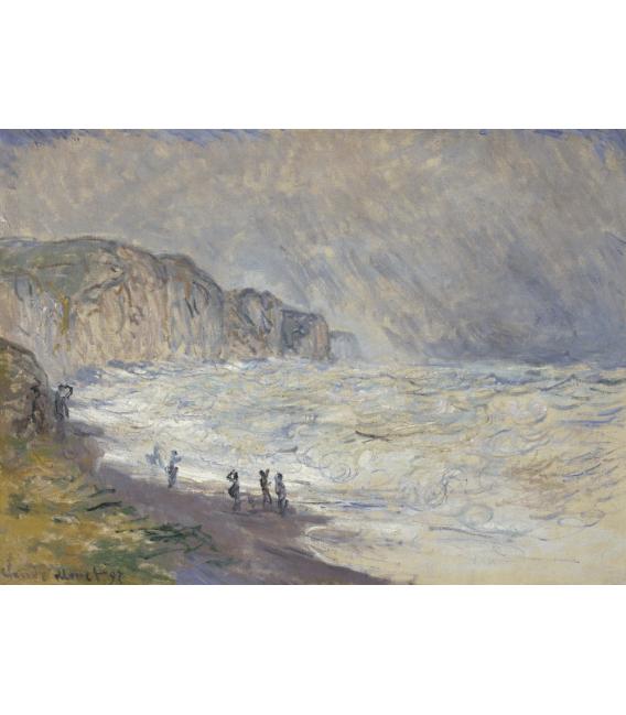 Stampa su tela: Claude Monet - Mare pesante a Pourville