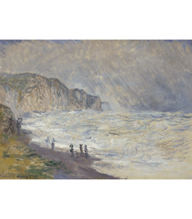 Claude Monet - Mare pesante a Pourville. Stampa su tela