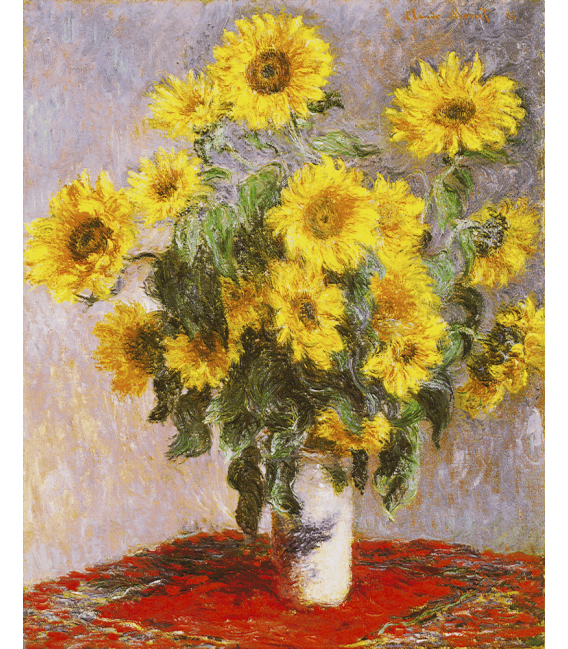 Printing on canvas: Claude Monet - Bouquet of Sunflowers