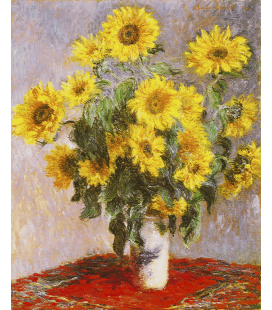 Claude Monet - Bouquet of Sunflowers. Printing on canvas