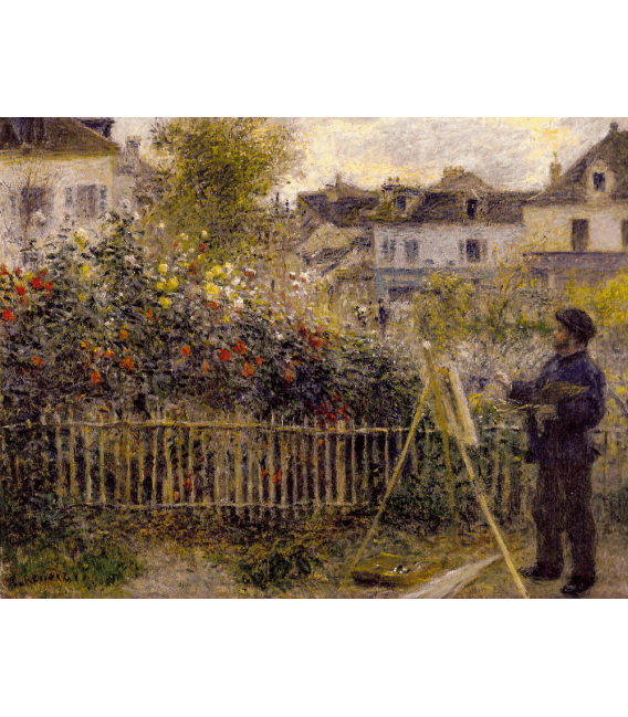 Printing on canvas: Claude Monet - Monet in his Garden at Argenteuil
