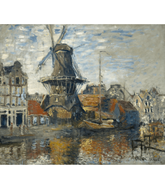 Printing on canvas: Claude Monet - Windmill
