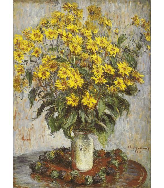 Printing on canvas: Claude Monet - Nasturtiums