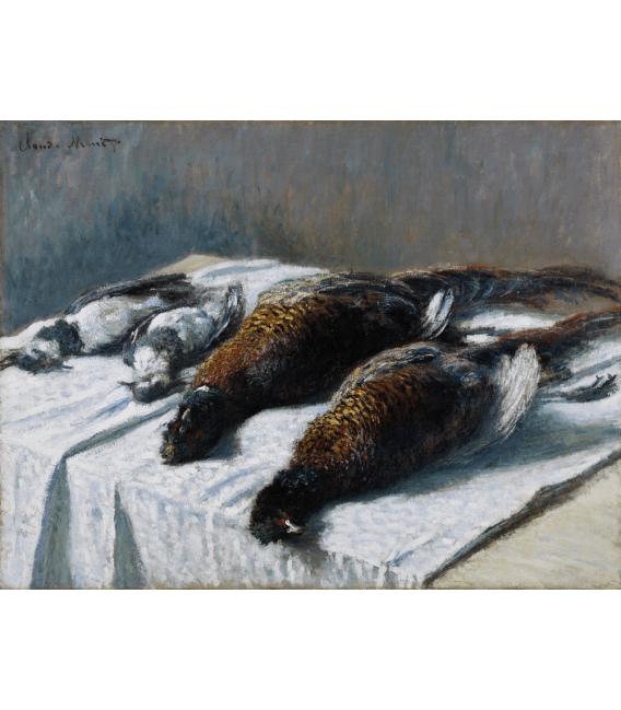 Stampa su tela: Claude Monet - Natura morta con fagiani e pivieri