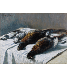 Claude Monet - Still Life with Pheasants and Plovers. Printing on canvas
