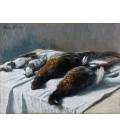 Printing on canvas: Claude Monet - Still Life with Pheasants and Plovers