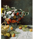 Claude Monet - Still Life with Flowers and Fruit. Printing on canvas
