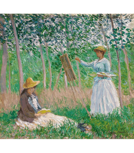 Printing on canvas: Claude Monet - In the woods in Giverny