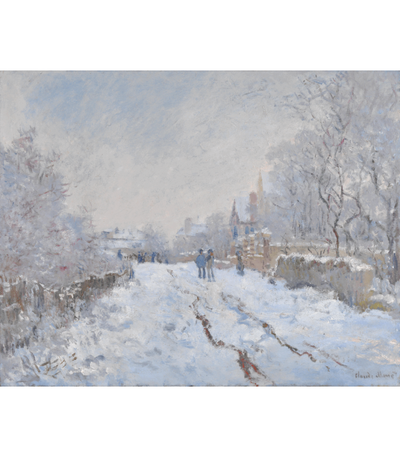 Printing on canvas: Claude Monet - Snow at Argenteuil