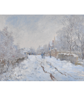 Claude Monet - Neve ad Argenteuil. Stampa su tela
