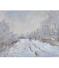 Stampa su tela: Claude Monet - Neve ad Argenteuil