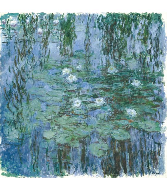 Stampa su tela: Claude Monet - Nymphéas (Blue)