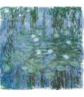 Claude Monet - Nymphéas (Blue). Stampa su tela