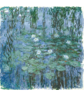 Claude Monet - Waterlilies (Blue). Printing on canvas