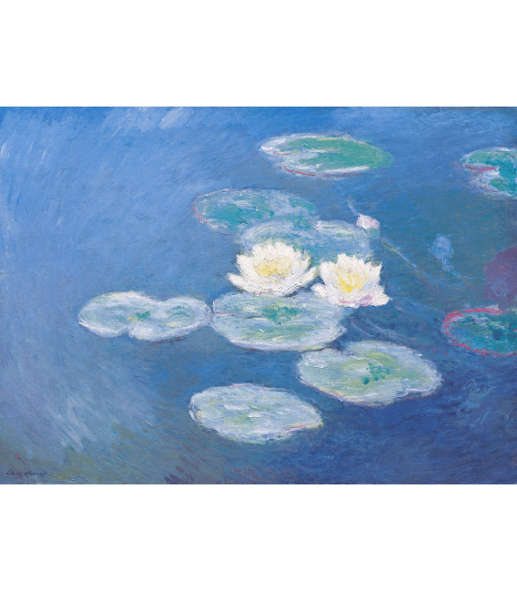 Printing on canvas: Claude Monet - Waterlilies (effect of the evening)
