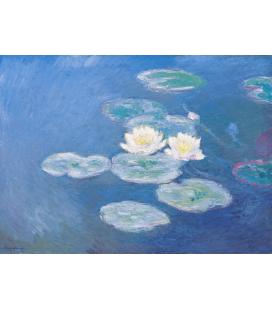 Claude Monet - Nymphéas (effetto della sera). Stampa su tela