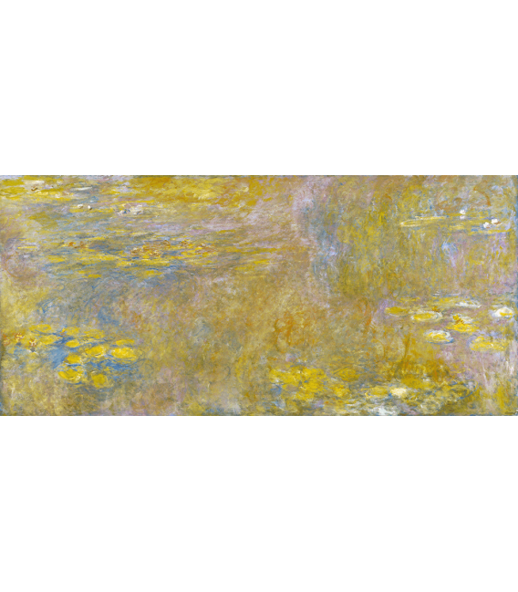 Printing on canvas: Claude Monet - Waterlilies (Yellow)