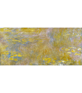Claude Monet - Waterlilies (Yellow). Printing on canvas