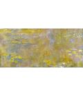 Claude Monet - Nymphéas (Giallo). Stampa su tela