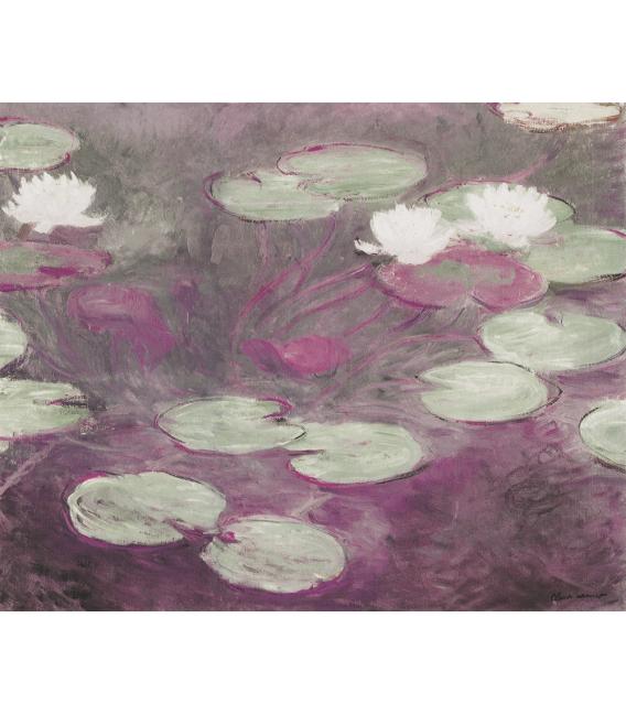 Stampa su tela: Claude Monet - Nymphéas (Rosa)