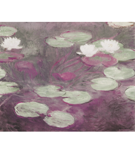 Claude Monet - Waterlilies (Rosa). Printing on canvas