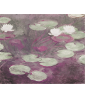 Printing on canvas: Claude Monet - Waterlilies (Rosa)